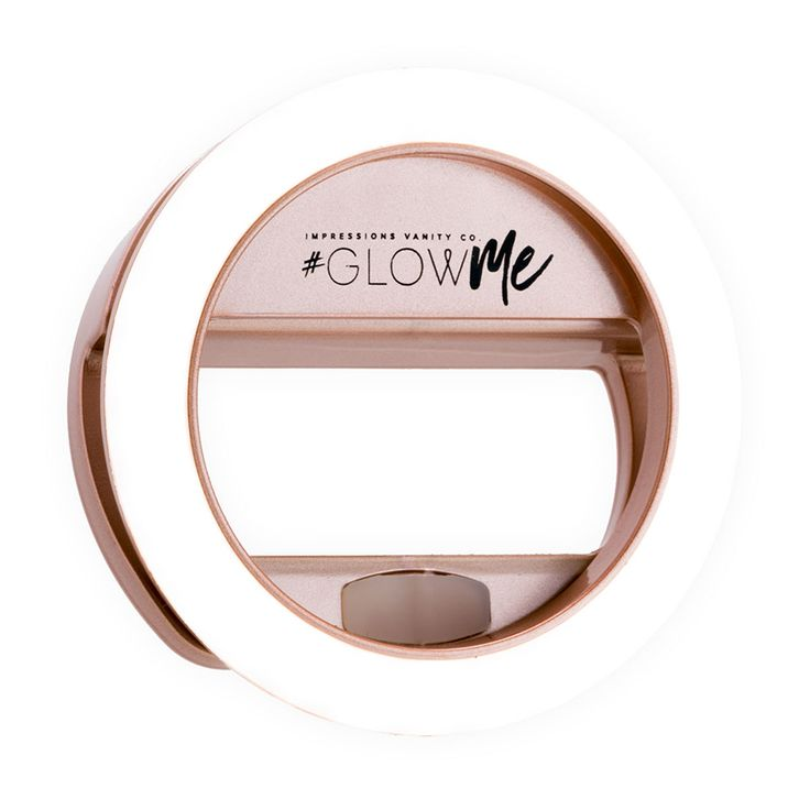 GlowMe 2.0 USB Rechargeable LED Selfie Ring Light (in Champagne Gold, Rose Gold, and Shimmery Silver)