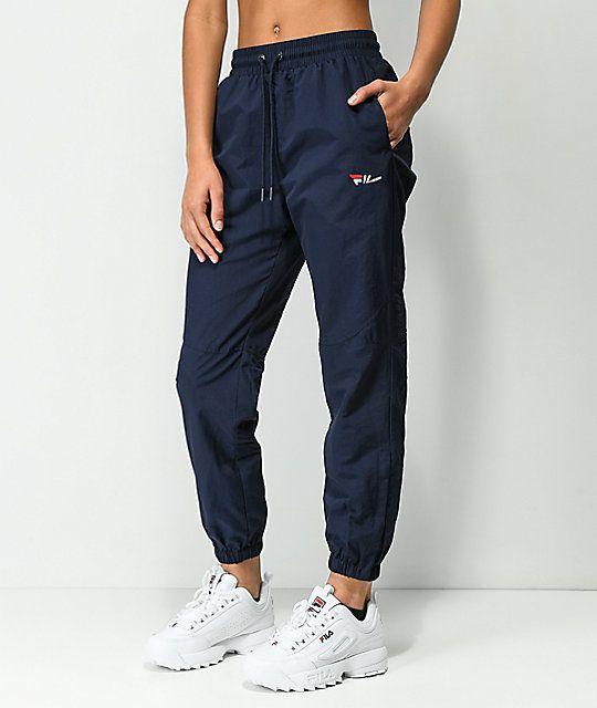 bcc6b198 FILA Diana Navy Cutout Zipper Track Pants in 2019 | Stuff | Pants ...