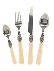 George Home 16 Piece Vintage Pearl Cutlery Set