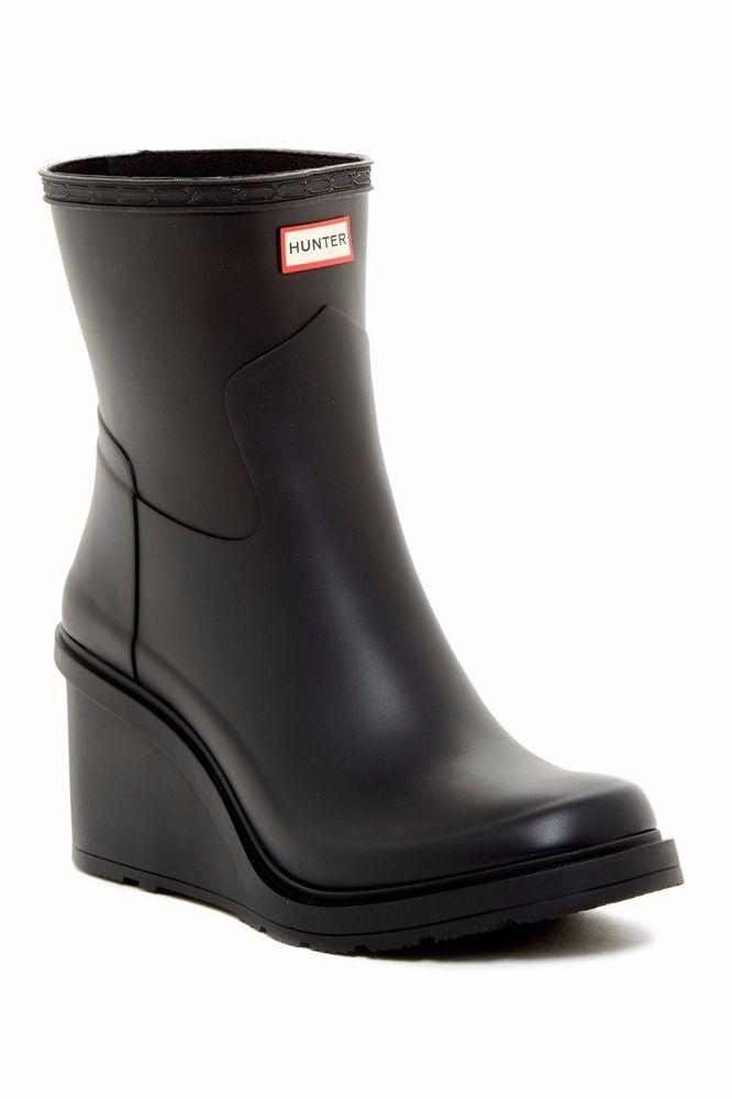 NWOB Hunter Original WFP1010RMA Refined Wedge Waterproof Rain Boot #28 BLACK US7 | Clothing, Shoes & Accessories, Women's Shoes, Boots | eBay!