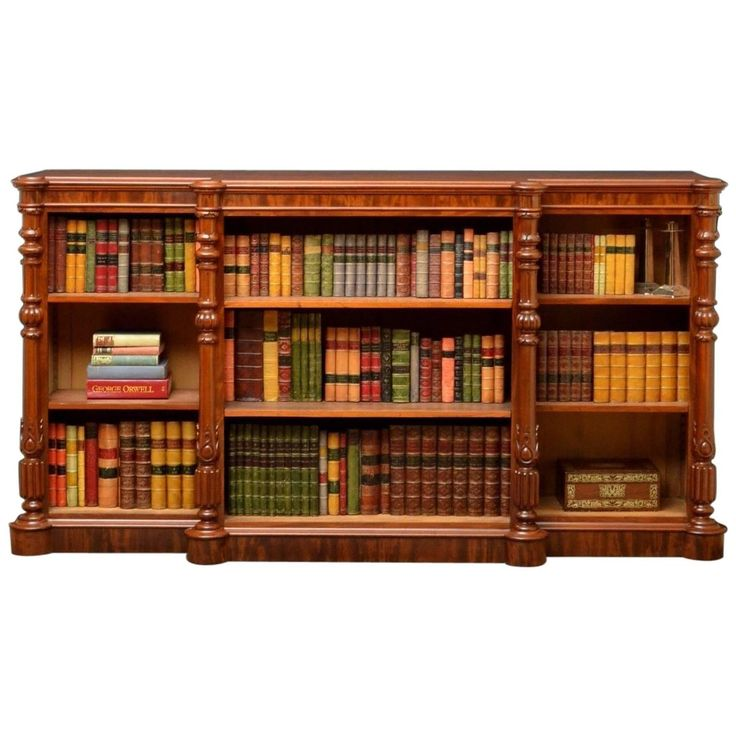 Superb Quality Victorian Mahogany Open Bookcase | From a unique collection of antique and modern bookcases at https://www.1stdibs.com/furniture/storage-case-pieces/bookcases/