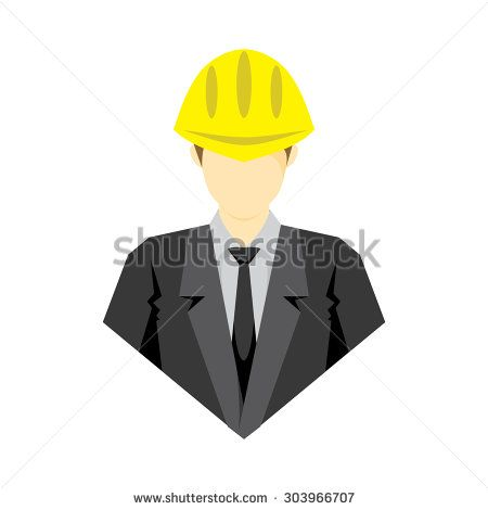 vector illustration of contractor