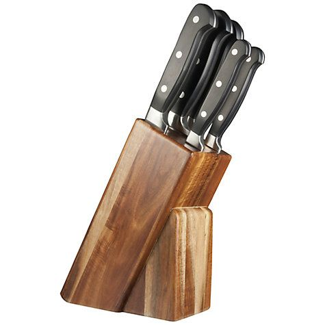 Buy Taylor's Eye Witness Acacia Wood Knife Set and Block, 5 Pieces Online at johnlewis.com