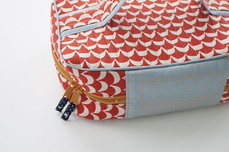 handmade style makeup travel case sewn by carolyn friedlander
