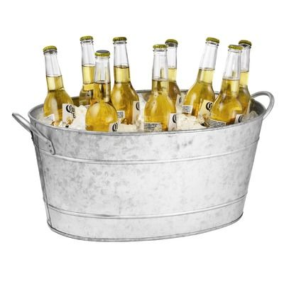 Tablecraft 710 Oz. Galvanized Steel Beverage Tub