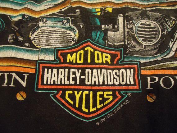 vintage tshirt HaRLEY DaVIDSON shirt V Twin by VintageTrafficUSA, $34.50