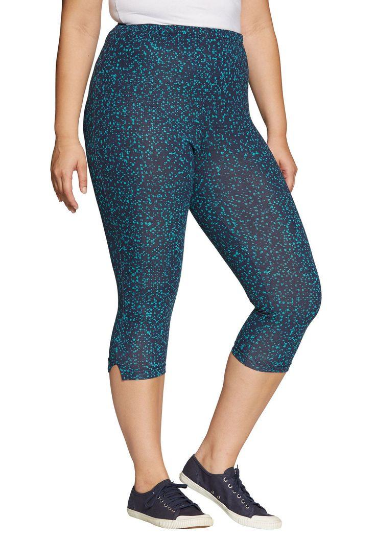Petite leggings, capris in stretch knit - Women's Plus Size Clothing
