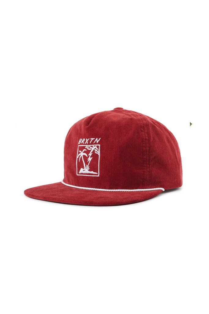 Burgundy Brixton Stranded HP Cap