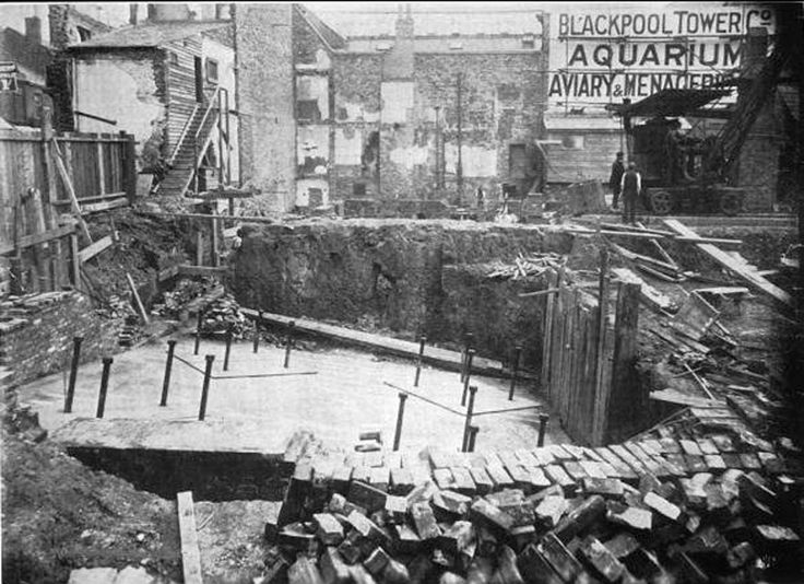 The foundation for Blackpool Tower