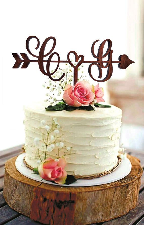 Arrow Wedding Cake Topper Wood G Cake Topper Initial Cake Etsy In 2020 Rustic Wedding Cake Toppers Custom Cake Toppers Rustic Cake Toppers