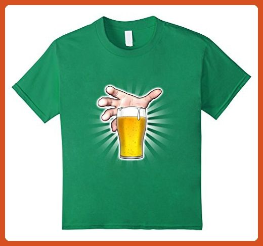 Kids Hand Reaching for a Frosty Cold Pint of Beer at the Bar Pub 10 Kelly Green - Food and drink shirts (*Partner-Link)