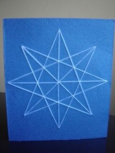 Snowflake Cards made with string