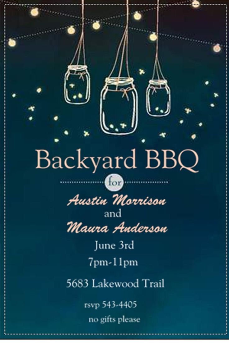 After the Wedding Party Invitations or Elopement Party Invitations ... not only do I love the backyard BBQ, but these colors: cream and teal