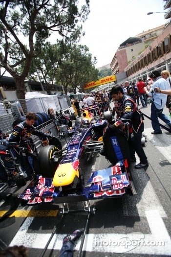 Sebastian Vettel, Red Bull Racing on the grid #Monaco #F1