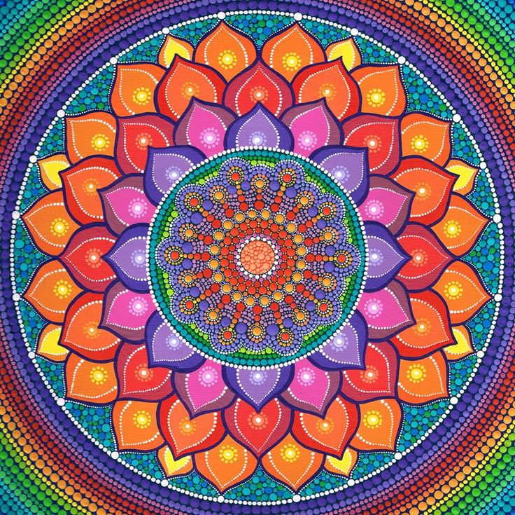 Elspeth McLean painted mandala