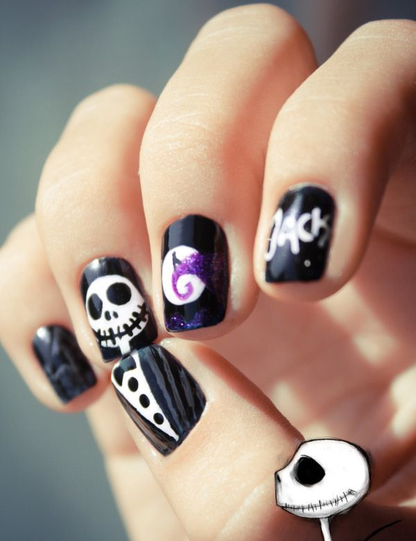 Halloween Nail Art, Cool Halloween Nail Art Ideas, http://hative.com/cool-halloween-nail-art-ideas/,