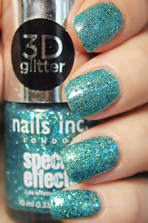 Really love the sparkles and colors of the Nails inc. 3D glitters. Swatch by OMG! Polish 'em!.