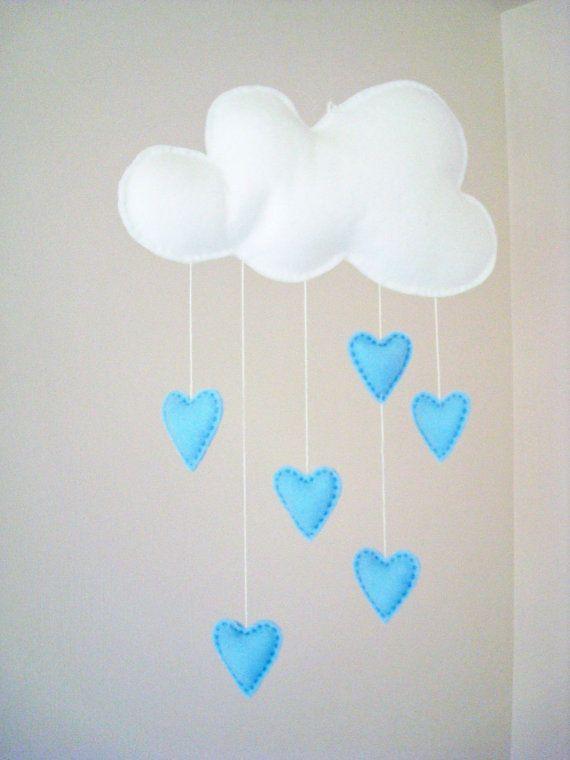 Love Mobile Blue by ALittleWorld on Etsy