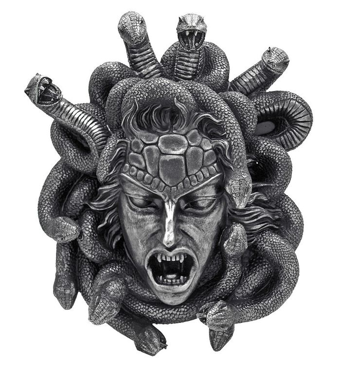 Gorgon's Gaze Medusa Hanging Head Wall Statue