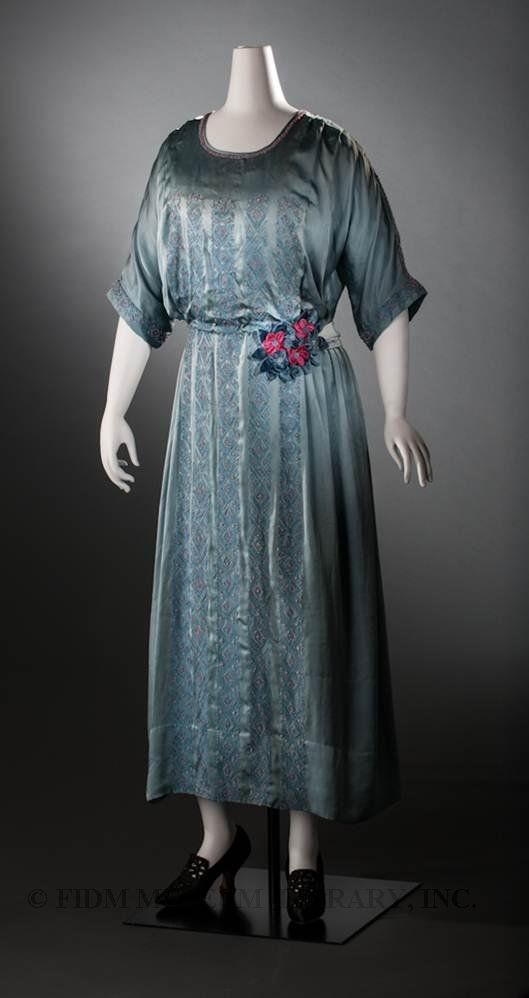 """The """"Going-Away"""" Dress of HRH Princess Mary, Princess Royal, Countess of Harewood and Viscountess Lascelles: ca. 28 February 1922 - 4 March 1922,  silk, embroidered in silk and beads of crystal and coral, part of the Helen Larson Historic Fashion Collection."""