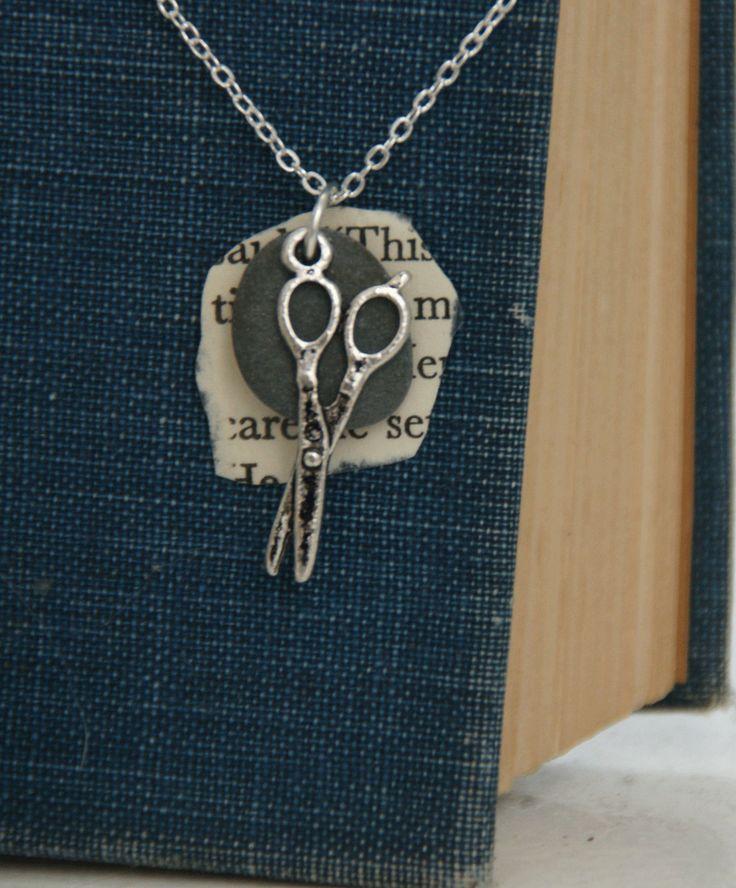 Rock Paper Scissor Necklace (silver). $21.00, via Etsy.