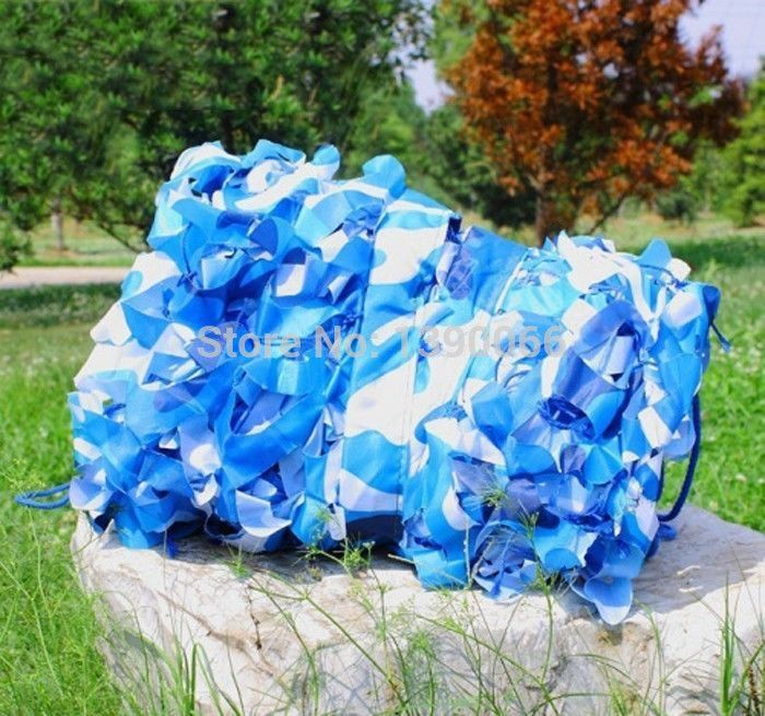 2x3m military Hunting Camouflage Net Sea blue camo netting camo cover Sun Shelter for decoration