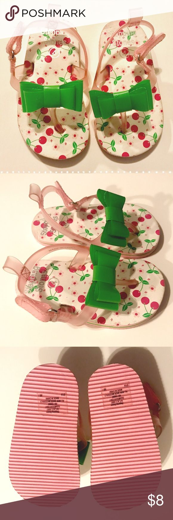 Cherry Bow Sandals
