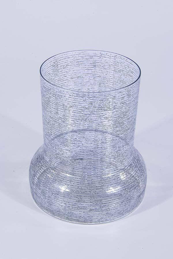Glass vase, H: 19,5 cm, 1966