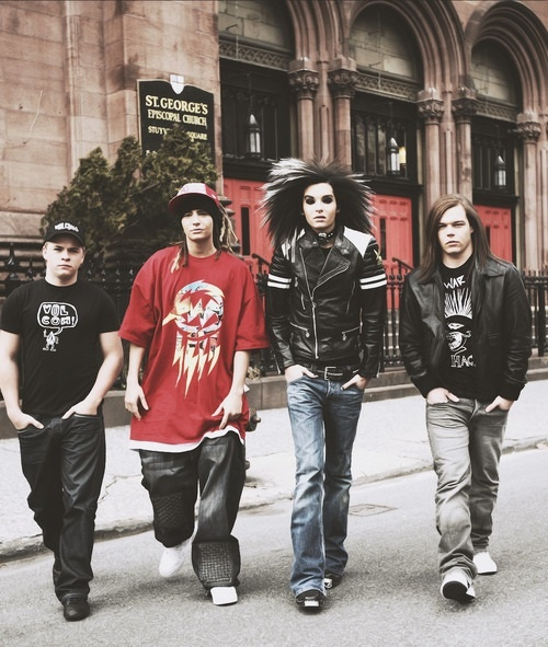 Tokio Hotel - not that old, but I love them in this pic. The lion mane, Georg's long hair...Tom's dreads...