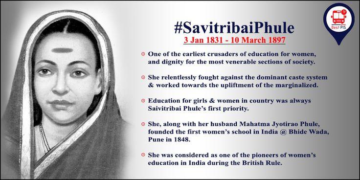 Remembering #SavitribaiPhule, a social reformer, a poet and India's first woman teacher on her 186th Birth Anniversary.  #BestPis #ASmartApp4SmartMumbaikar #PassengerInformationService #KnowUrBESTBus #BESTBuses