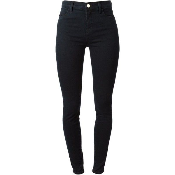 J Brand High Waisted Skinny Jeans ($190) ❤ liked on Polyvore featuring jeans, pants, bottoms, calças, blue, high rise jeans, j brand, highwaisted skinny jeans, j brand jeans and blue jeans