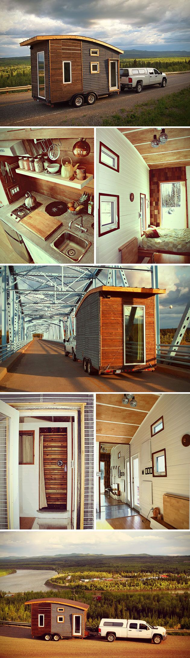 Maybe you want to spend a night, maybe you wanna spend a year – it really doesn't matter with the Leaf House. Essentially a small dwelling on wheels, each one is custom built to the exact specifications of the owner. And they're more than just a gimmicky trailer; each one was built to withstand the harsh Canadian winters, keeping you warm all through the colder seasons. In order to make a home that was portable, the design team had to cut back on weight opting for solutions like concrete…