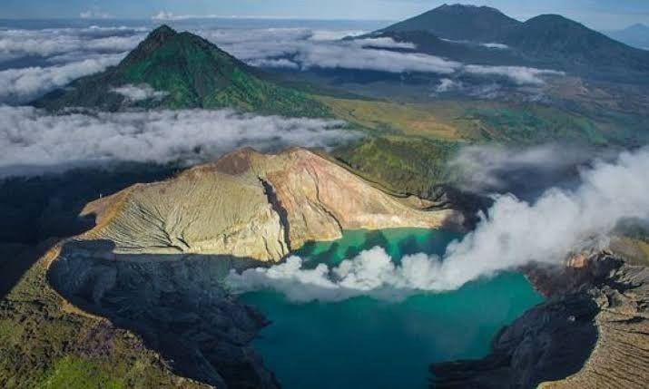 Gunung Ijen Pemandangan Foto Alam Alam