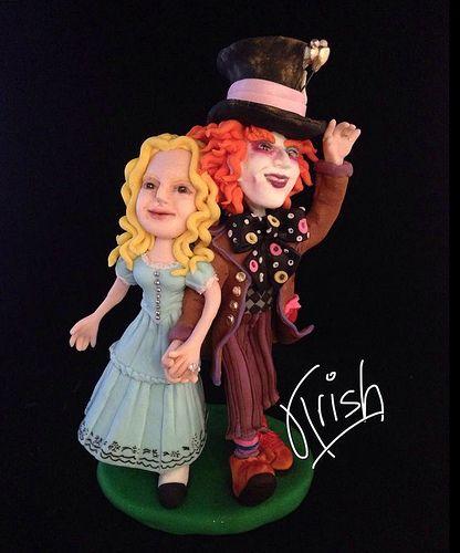 Madd Hatter & Alice cake topper