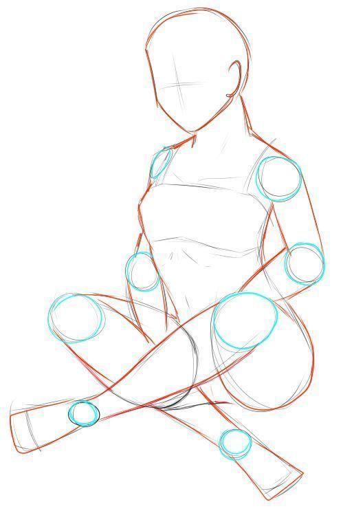 """""""Female Torso Rotation"""" Referenzblatt Tipps zum Zeichnen von Kunst – #Art #draw #drawi"""