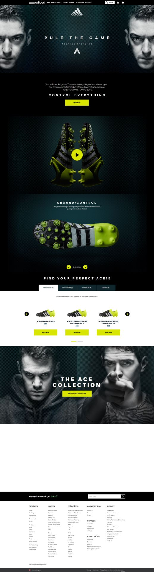 adidas ACE15 football boots | Control everything