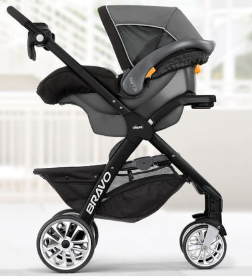Product:Chicco bravo le travel system silhouette Rating: 5 out of 5 stars Price: $429.99 with free shipping Where to buy: Amazon The Chicco bravo le travel system is an elegant stroller car seat combo for everyday use. This is a 3 in 1 system that include a stroller, car seat and the base. This stroller is made to adapt with your growing child. It features a stroller with quick one hand fold, a removable reversible insert, a child tray with cup holder, premium parent tray with zip…