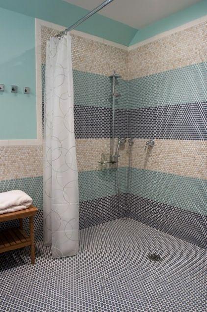 modern bathroom by Rachel Reider Interiors.. stripes