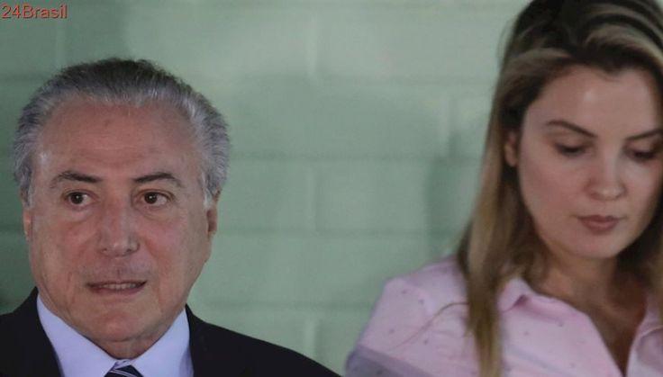 """Presidente teve obstrução urológica   Após alta de hospital, Temer diz estar """"inteiro"""""""