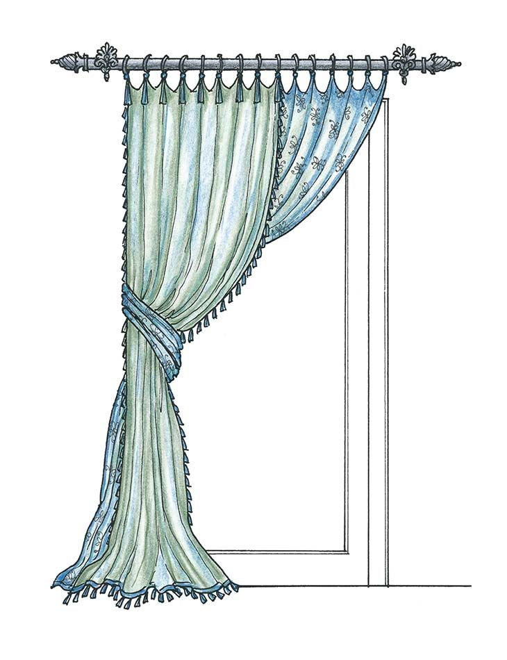 11 best curtains sketch images on pinterest curtain