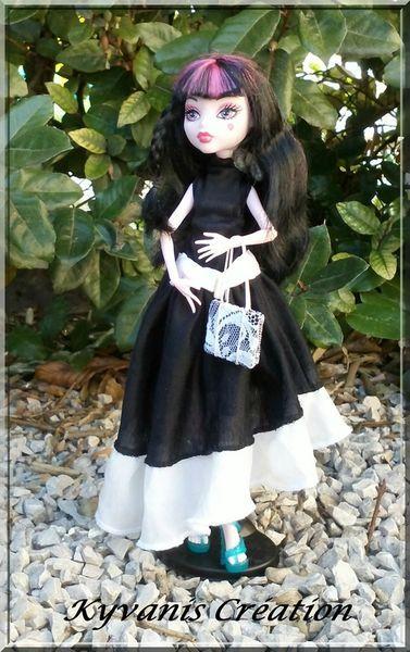robe de soirée Barbie/Monster High faite main, sac assorti by Kyvanis Création
