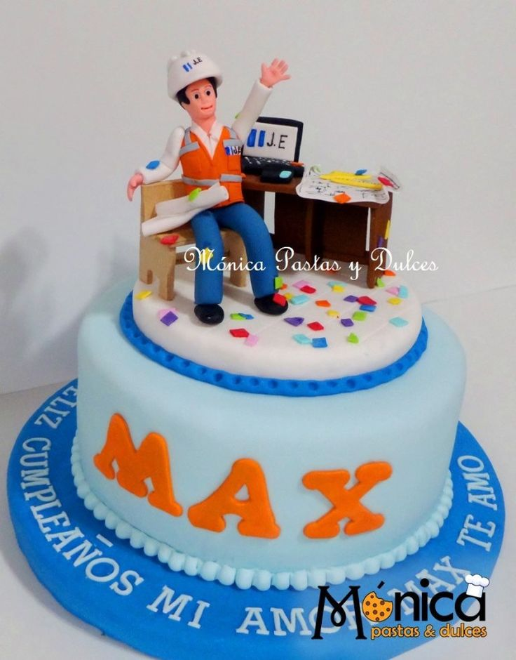 Torta para Ingeniero civil, con detalles únicos en ella, elaborado por MONICA PASTAS Y DULCES