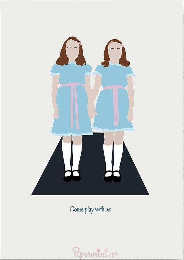 """Terroríficas las gemelas de """"El resplandor"""" . Personaliza el poster lámina con la frase que quieras"""