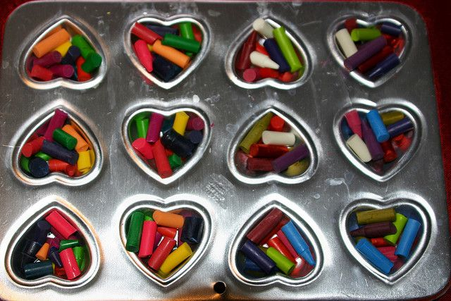 Recycled Crayons for Valentine's Day | Flickr - Photo Sharing! 110 C, 15 min.