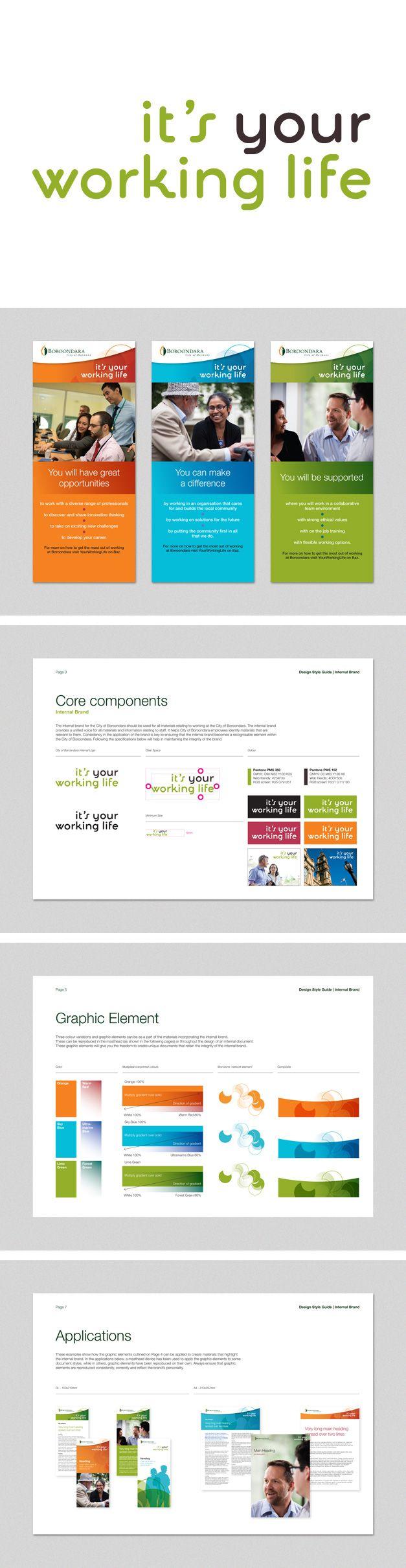 Internal branding for City of Boroondara. www.fenton.com.au #communication #PR #branding #graphicdesign