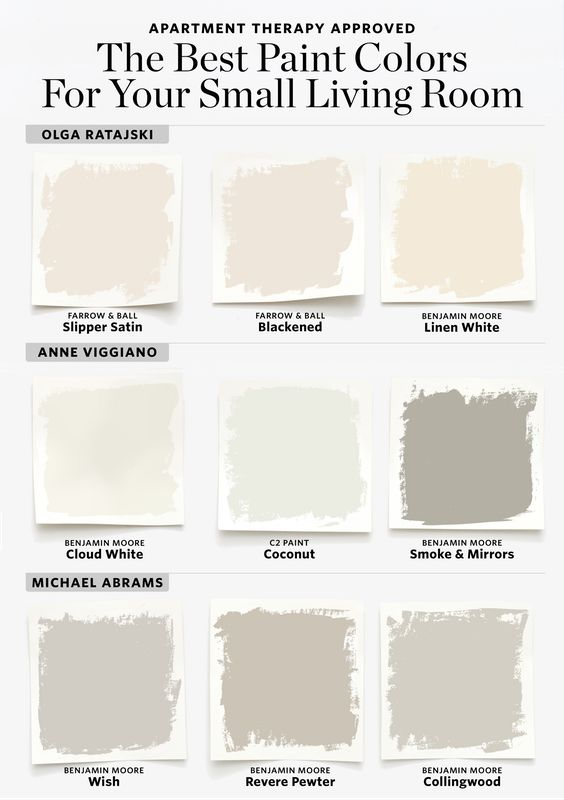 From creams, to dark grays, to off-whites, there are a lot of options to play with!
