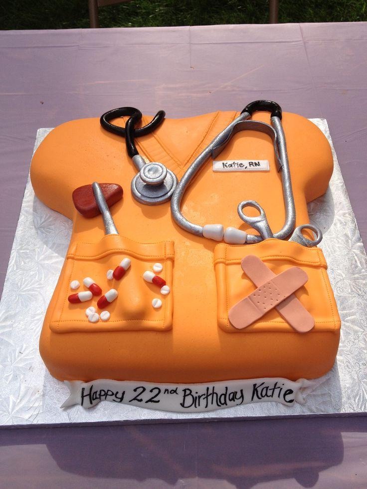 Katie's nurse scrub birthday cake. #nurse #cake #RN ...