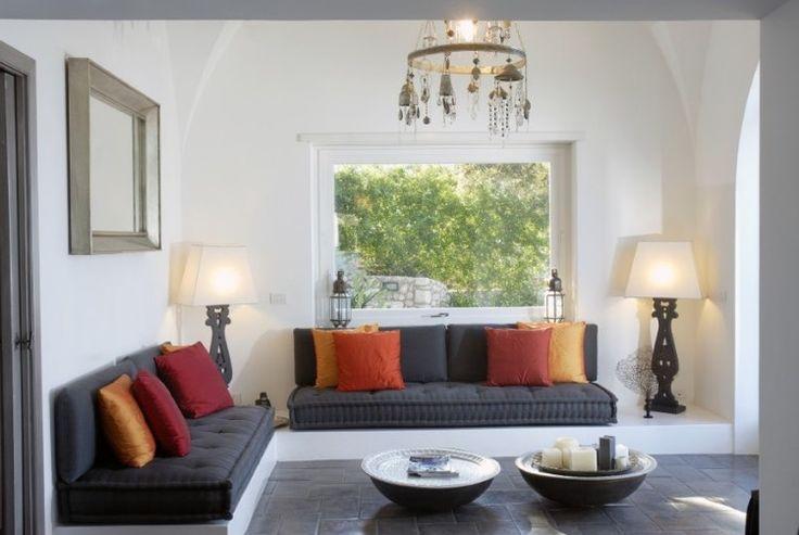 Wohnzimmer ohne sofa einrichten 20 ideen und sitz for Marokkanische bodenkissen