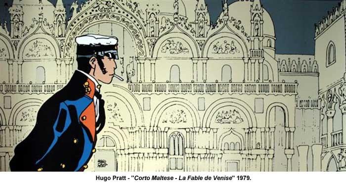 """Hugo Pratt - """"Corto Maltese - La Fable de Venise"""" 1979."""