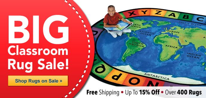 Classroom Rug Sale! Save up to 15% on Over 400 Rugs Plus Get FREE Shipping!  Shop Now >> http://www.mpmschoolsupplies.com/c-276-classroom-rugs-classroom-carpets.aspx